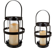 Scott Living Open Metal Cage Lantern with Handle