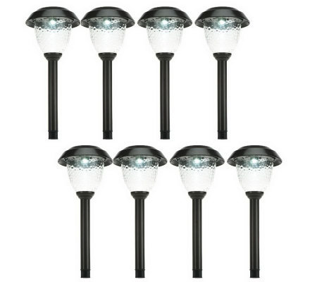 Paradise 8-Pc. Summer/Winter Landscape Size Solar Lightset LumaBright Tech