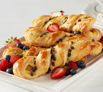 Authentic Gourmet (20) French Chocolate Custard Twists - M44901