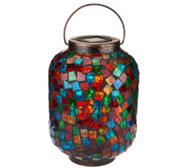 Paradise Mosaic Glass Jar with Solar Light