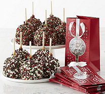 Mrs. Prindable's 10 Pc Individual Festive Apples w/ Gift Bags - M116702