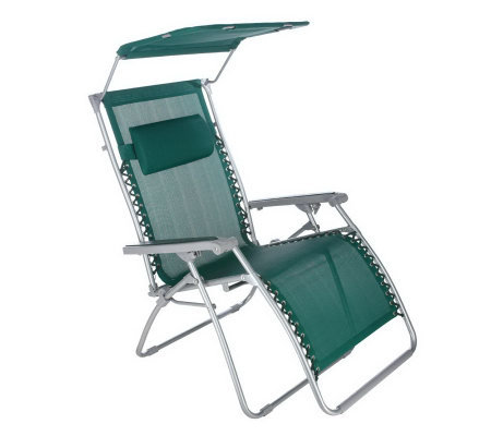 Bliss Hammocks Gravity Free Recliner w/ Canopy & Pillow