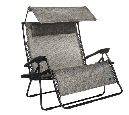 Medium image of bliss hammocks 2 person gravity free recliner w canopy