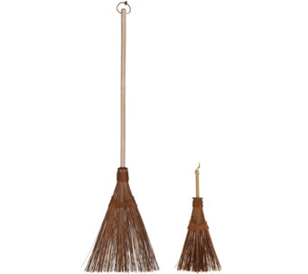 Ultimate Innovations Indoor/Outdoor Coconut Broom & Whisk Set - M49002