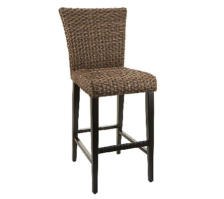 Atleisure Sarah Indoor Outdoor Padded Wicker Bar Stool