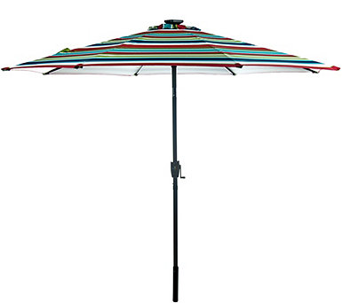 ATLeisure 9' Solar Umbrella with Color Morphing - M51603