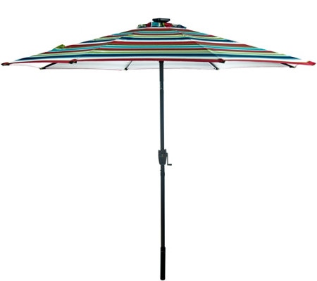 ATLeisure 9' Solar Umbrella with Color Morphing