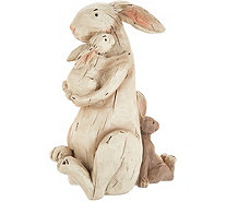 Plow & Hearth Mother Rabbit Holding Baby Bunny - M55703