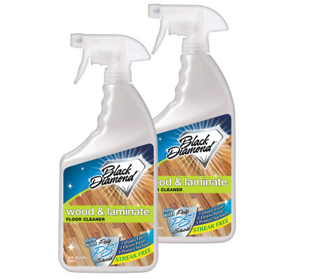 Black Diamond Wood and Laminate Floor Cleaner,1qt - Set of 2