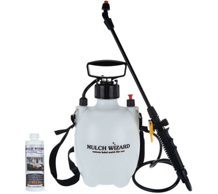 Mulch Wizard Colored Mulch Renewal Spray with Pump