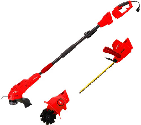 Sun Joe 4-N-1 Electric Tiller String & Hedge Trimmer Kit