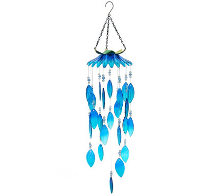Plow & Hearth Colorful Glass Wind Chimes