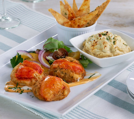Graham & Rollins (10) 3 oz Lobster Crab Cakes and (2) 10 oz Crab Dips