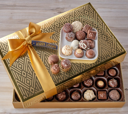 Harry London 80 pc 2.45-lb Chocolate Assortment in Gold Box