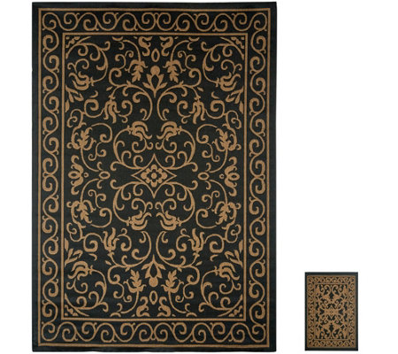 Veranda Living 7x10 Reversible Indoor Outdoor Scroll Rug