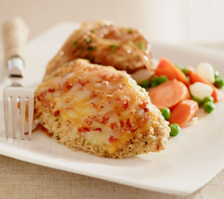 Stuffin Gourmet (8) 5 oz. Bacon Double Cheese Crusted Chicken Breasts