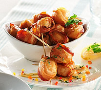 Graham & Rollins 3 lbs. Bacon Wrapped Sea Scallops Auto-Delivery - M54806
