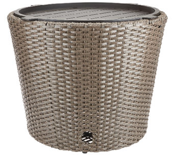 ATLeisure Faux Wicker Hose Bowl and Side Table with Removable Tray - M45507
