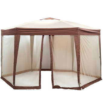 Bliss Hammocks 13' Hexagon Canopy with Net & Carry Bag - M49207