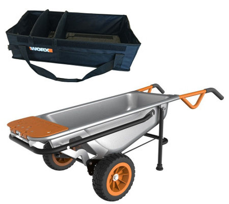 Worx Aerocart 8 in 1 Multi-Purpose Cart with Tub Organizer