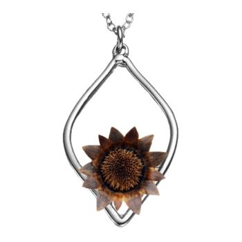 The Blessing Flower Balanced Sterling Silver 17 Necklace