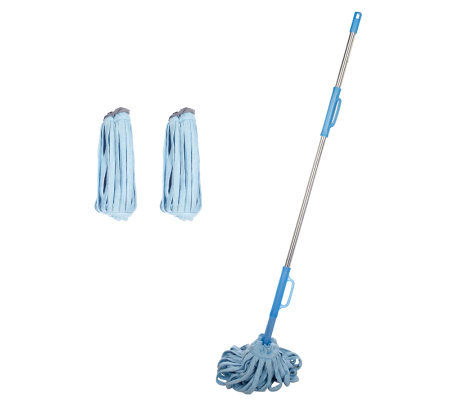 Don Aslett's Super Absorbent Microfiber Mop w/2 Extra Heads