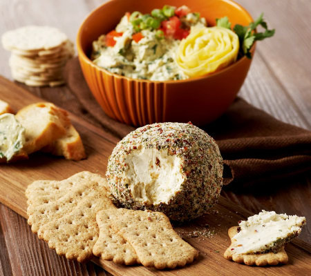 Laurie S Kitchen Set Of 6 Cheese Ball And Dip Mixes Qvc Com