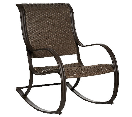 ATLeisure Julia Padded Faux Wicker Rocking Chair