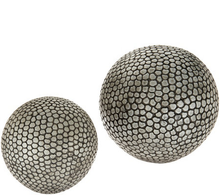 Scott Living Set of 2 Indoor/Outdoor Orbs