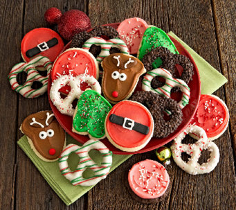 Ships 10/31 Cheryl's Holiday 20 pc Cookies andPretzels - M114909