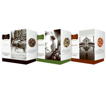 Wissotzky Tea Elise's Journey 3 Gift Boxes w/ 54 Silken Bags - M114011