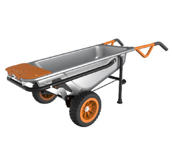"""As Is"" Worx Aerocart 8-in-1 All-Purpose Cart - M120111"