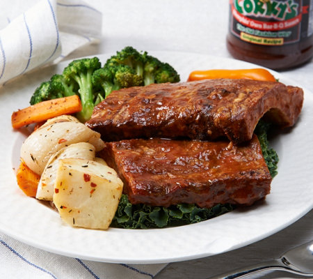 Corky's BBQ (5) 1 lb. Baby Back Ribs with Sauce Auto-Delivery
