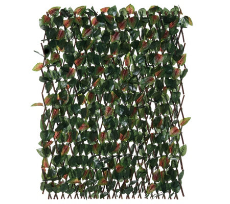 Compass Home Expandable Faux Ivy Privacy Fence with Colored Leaves