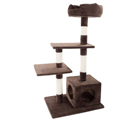 PETMAKER 4-Tier Cat Tree with Scratching Posts