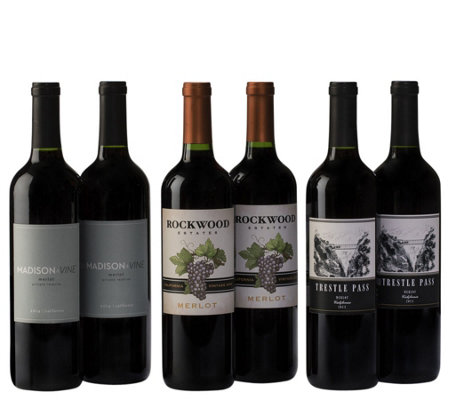 Merlot Medley Six-Bottle Set By Vintage Wine Estates