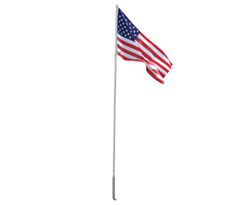 12-1/2' Wind Dancer Flagpole w/ Fly-Right Technology & American Flag