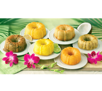 Dockside Market (6) 4-oz Mini Tropical-Flavor Bundt Cakes - M113413