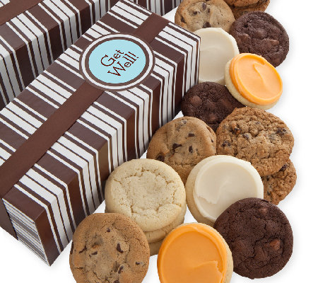 Cheryl's Get Well Cookie Box - 24 Assorted Cook ies