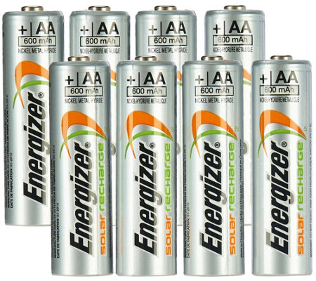 Energizer 8-pack Rechargeable Solar Batteries