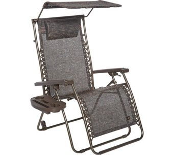 Bliss Hammocks XL Gravity Free Recliner with Canopy, Tray and Wheels - M52414
