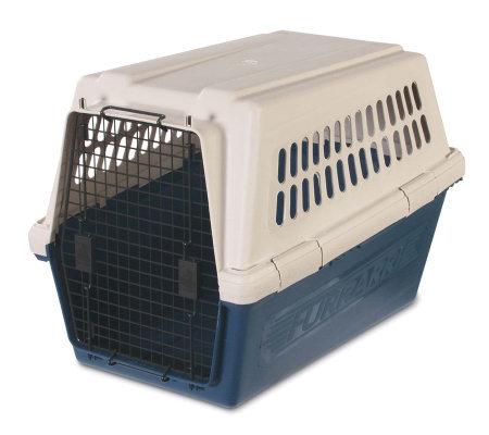 Petmate furrarri kennel large navy qvccom for Petmate large dog kennel