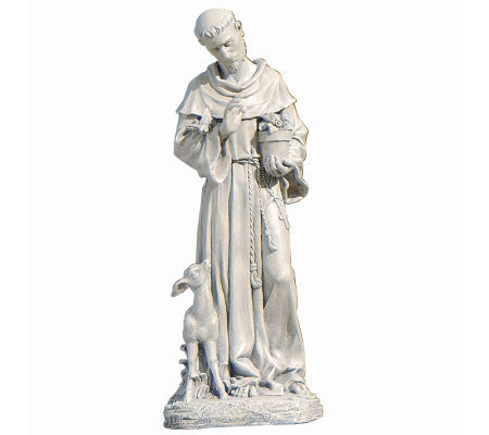 "18"" St. Francis Garden Decor Figure by Roman"