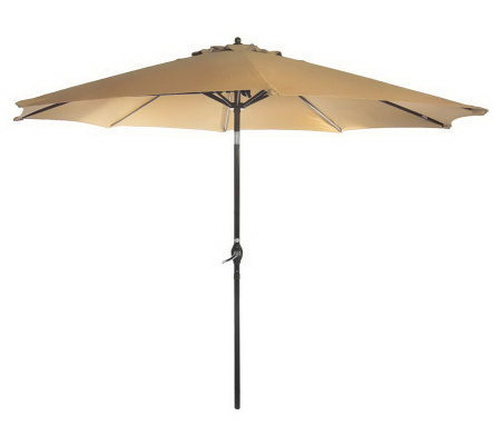 ATLeisure 9' Crank & Tilt Market Umbrella With Removable Cover