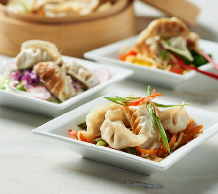 Perfect Gourmet 50pc. Chicken, Pork or Veggie Potstickers Auto-Delivery