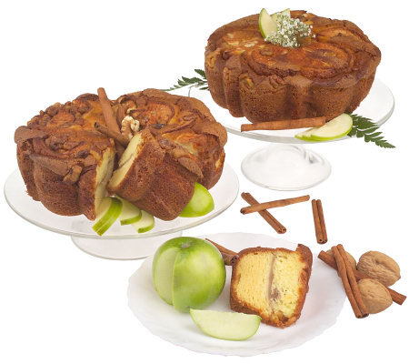 "My Grandma's (2) 8"" Granny Smith Apple Coffee Cakes"