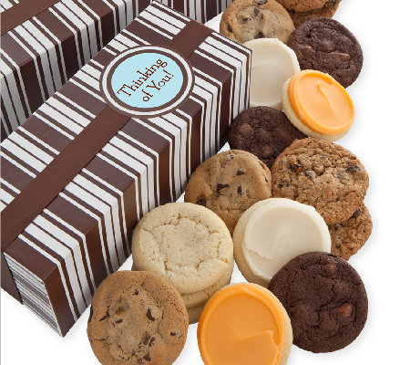 Cheryl's Thinking of You Cookie Box - 24 Assort ed Cookies