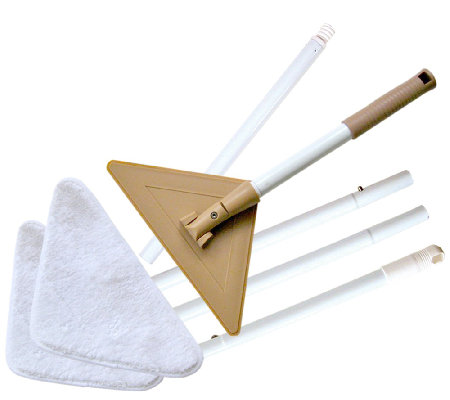 Don Aslett's Glass and Bath Mop with 3 Microfiber Pads