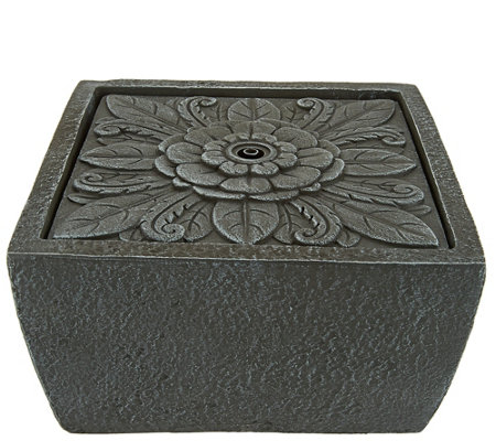 ED On Air Tavolo Floral Square Tabletop Fountain by Ellen DeGeneres