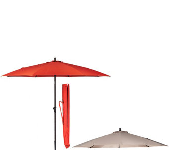 ATLeisure 9' Breeze Through Patio Umbrella with 2 Canopies - M48617
